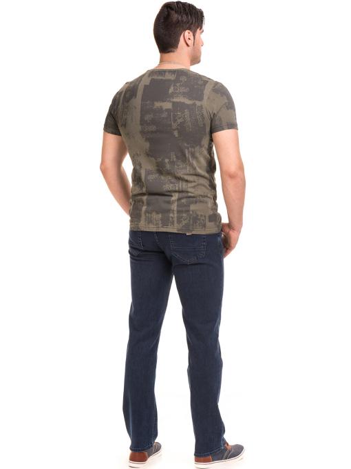 Мъжка тениска с къс ръкав и обло деколте VIGOSS 61023 - цвят каки E