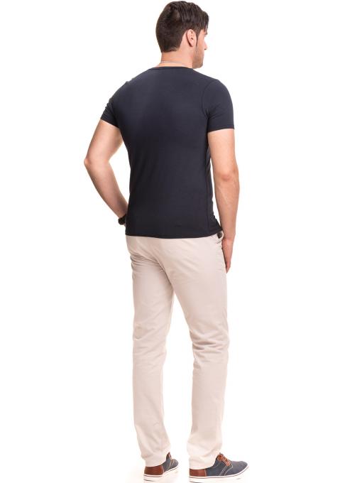 Мъжки спортно елегантен панталон XINT 470 - светло бежов E