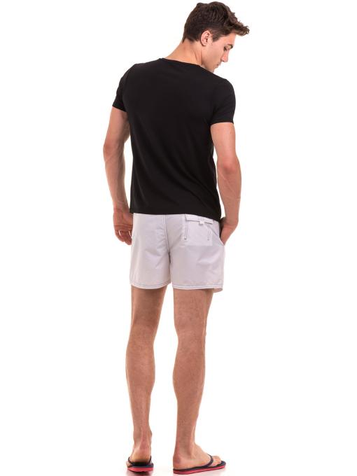 Мъжка тениска с V-образно деколте XINT 078 - черна E