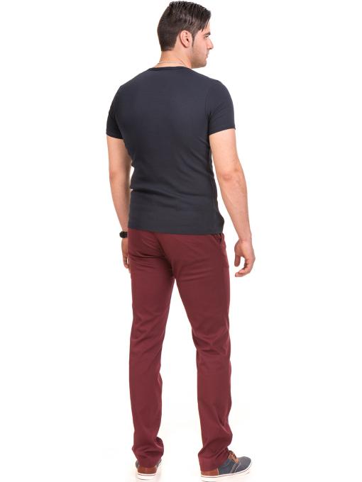 Мъжка вталена тениска XINT 081 - тъмно синя E