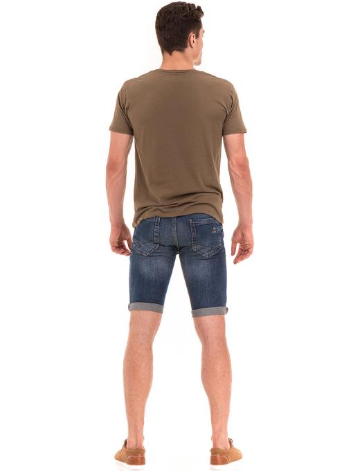 Мъжка тениска с обло деколте XINT 113 - цвят каки E