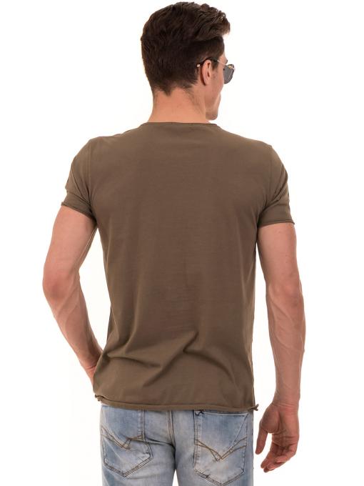 Мъжка тениска с щампа XINT 117 - цвят каки B