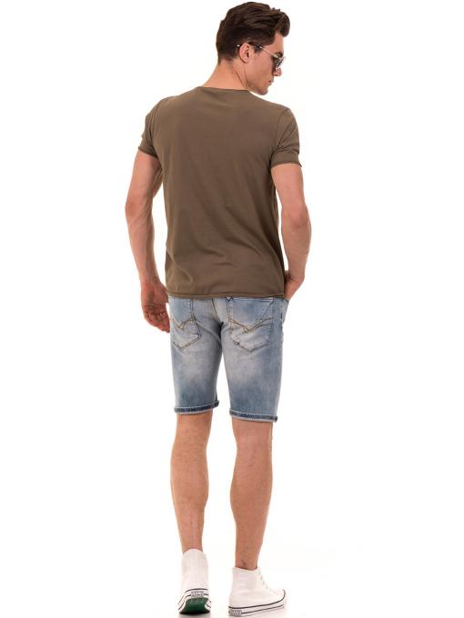 Мъжка тениска с щампа XINT 117 - цвят каки E