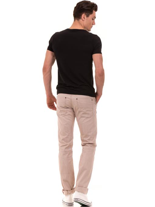 Мъжка тениска с обло деколте и щампа XINT 882 - черна E