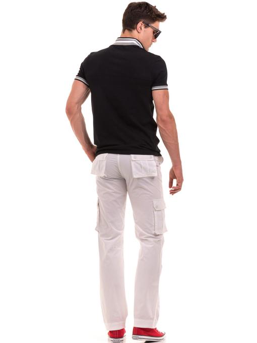 Мъжка блуза с яка BLUE PETROL 3054 - черна E