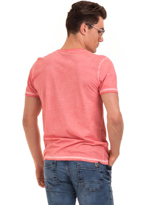 Мъжка тениска с обло деколте BLUE PETROL 3069 - розова B