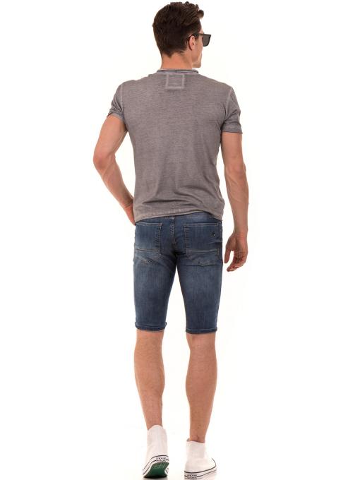 Мъжка памучна тениска с джоб BLUE PETROL 3118 - сива E