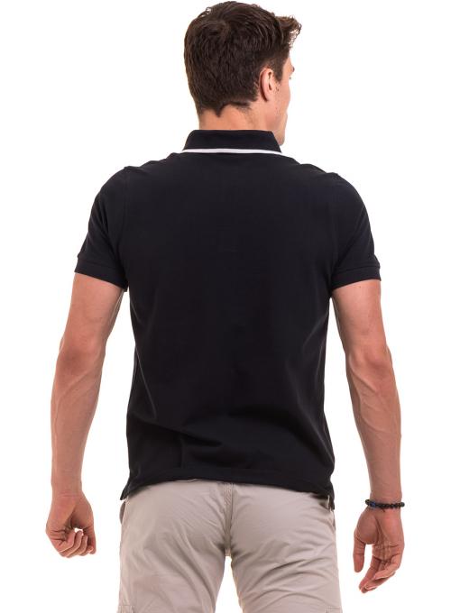 Мъжка блуза с яка  BLUE PETROL 3152 - тъмно синя B