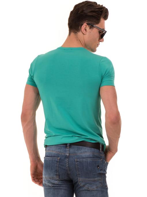 Мъжка блуза с обло деколте MCL B22614 - големи размери - зелена B