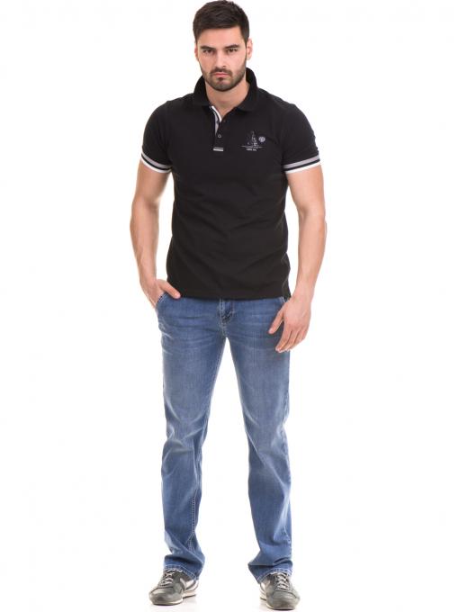 Мъжка блуза с къс ръкав MCL 24532 - черна C