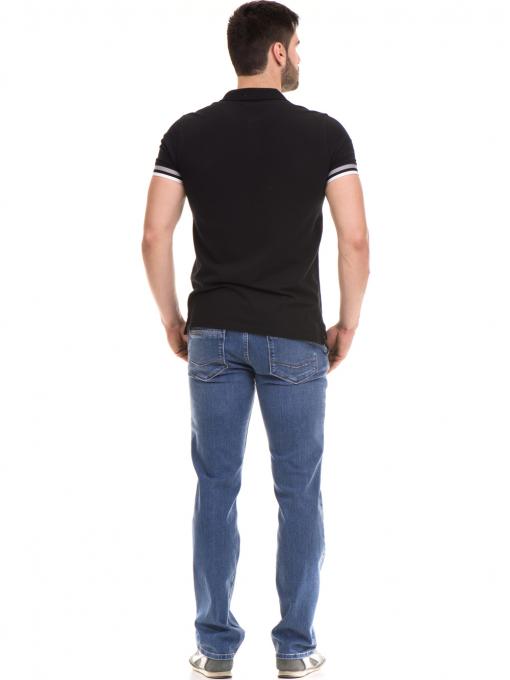 Мъжка блуза с къс ръкав MCL 24532 - черна E