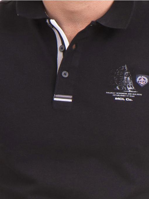 Мъжка блуза с къс ръкав MCL 24532 - черна D