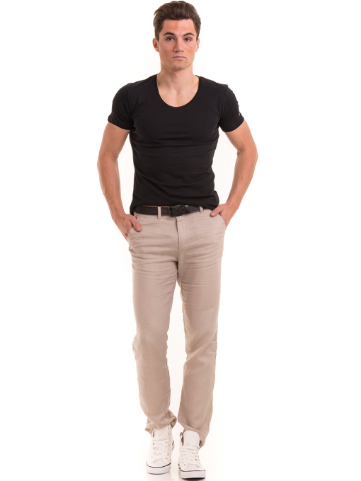 Мъжка вталена тениска VIGOSS 60028 - черна C