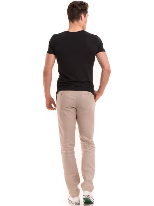 Мъжка вталена тениска VIGOSS 60028 - черна E