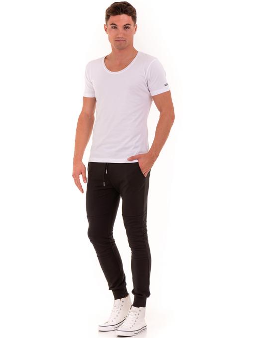 Мъжка вталена тениска VIGOSS 60028 - бяла  C1
