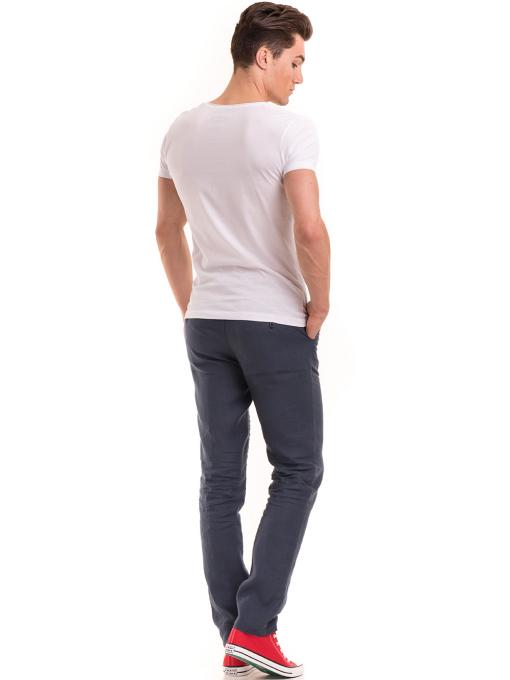 Мъжка вталена тениска VIGOSS 60028 - бяла E