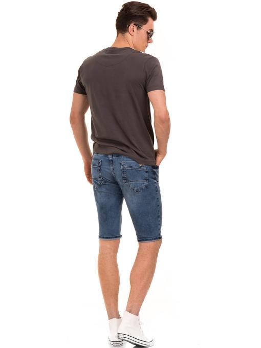 Мъжка блуза с обло деколте VIGOSS 60035 - цвят антрацит E