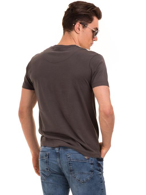 Мъжка блуза с обло деколте VIGOSS 60035 - цвят антрацит B