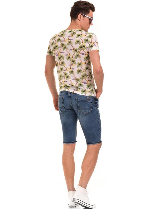 Мъжка тениска с къс ръкав VIGOSS 60109 - цвят екрю E