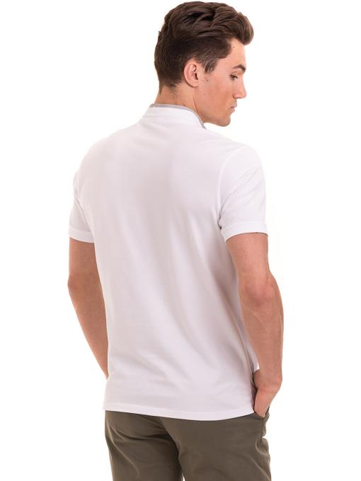Мъжка блуза с щампа  XINT 112 - бяла B
