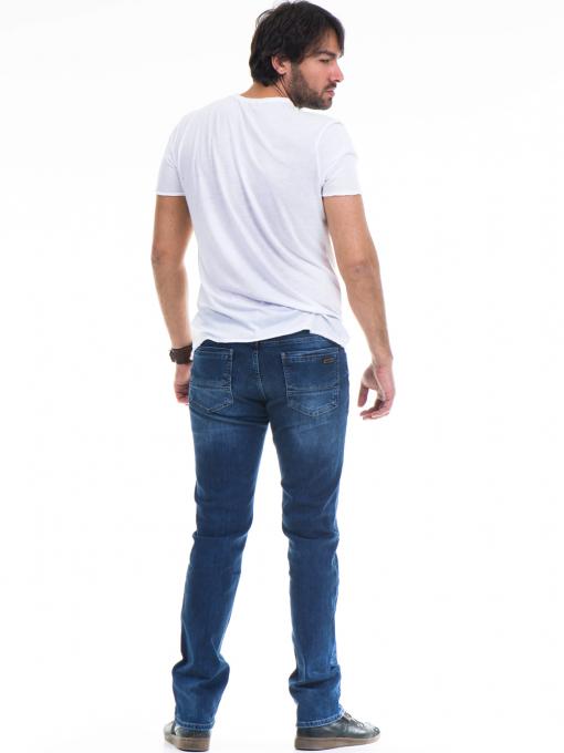 Мъжка тениска с обло деколте и щампа XINT 768 - бяла E
