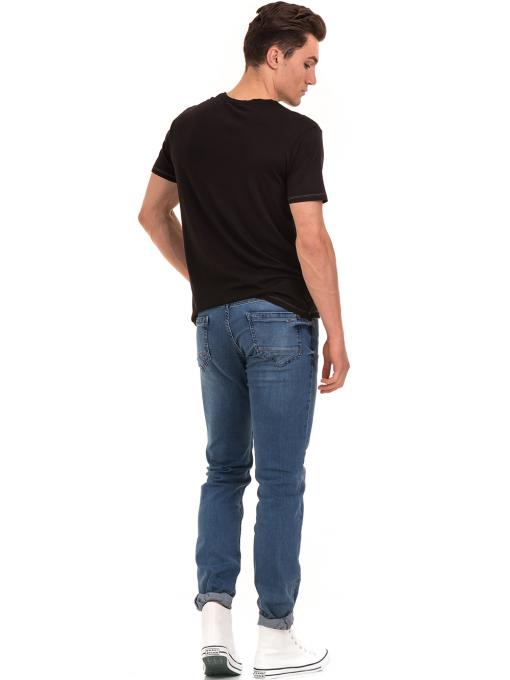 Мъжка тениска свободен модел XINT 775 - черна E