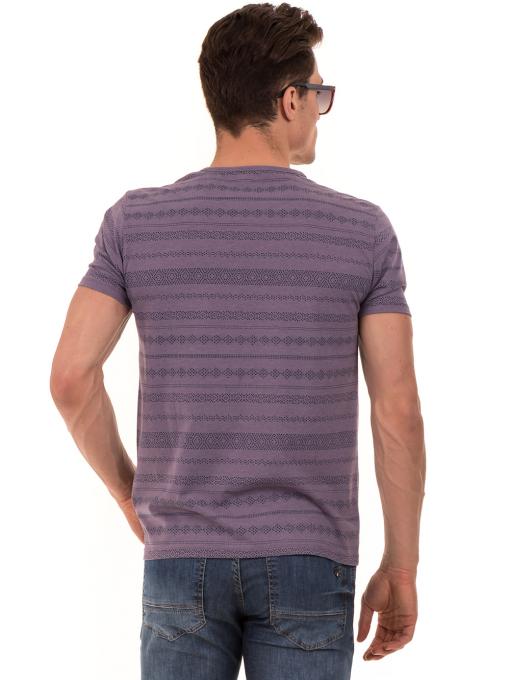Мъжка блуза с фигурални мотиви XINT 940 - лилава B