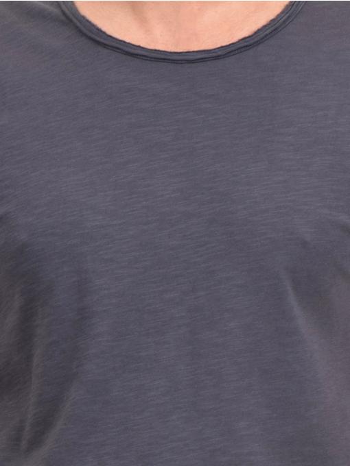 Мъжка памучна тениска с къс ръкав XINT 975 - сива D