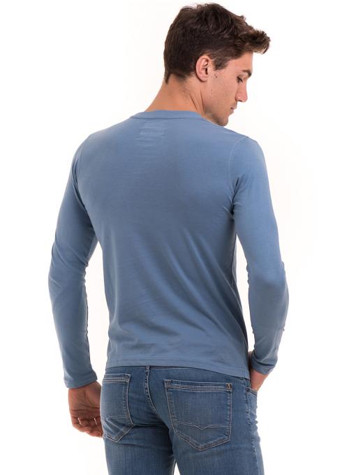 Мъжка спортна блуза с щампа ICEBOYS 0027 - синя B