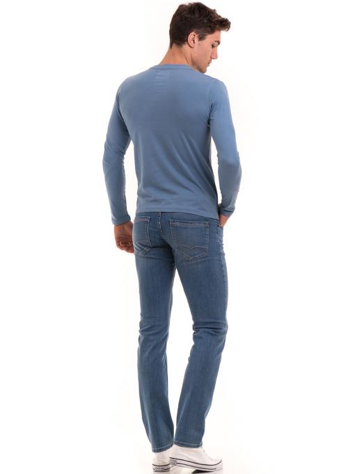 Мъжка спортна блуза с щампа ICEBOYS 0027 - синя E