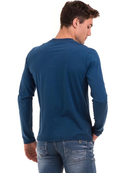 Мъжка спортна блуза с щампа ICEBOYS 1033 - синя B