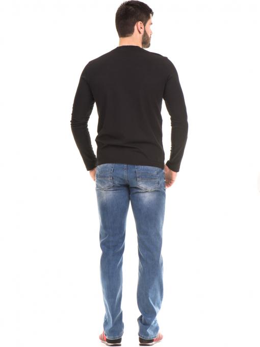 Мъжка спортна блуза с щампа ICEBOYS 1033 - черна E