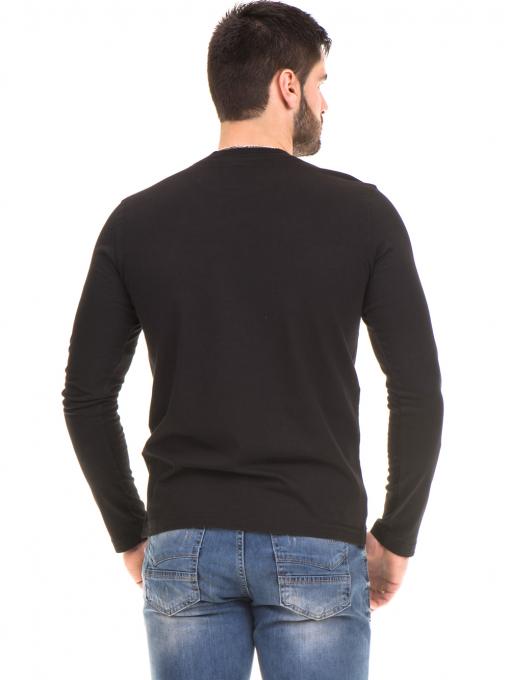 Мъжка спортна блуза с щампа ICEBOYS 1033 - черна B