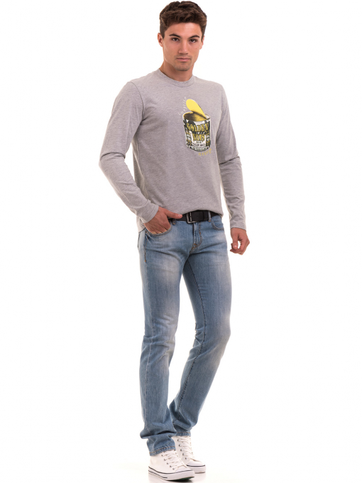 Мъжка спортна блуза ICEBOYS 1033 - светло сива C