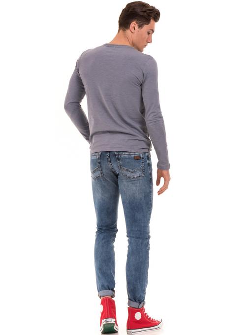 Мъжка спортна блуза с щампа-надпис ICEBOYS 3702 - сива E