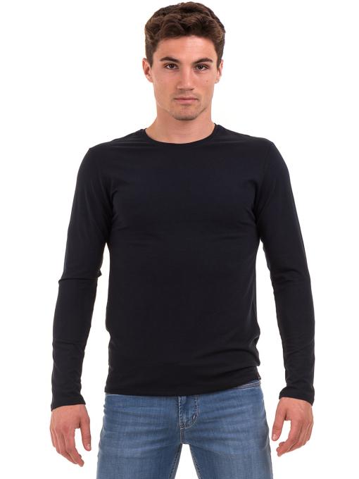 Мъжка спортна блуза MCL 27963 - тъмно синя