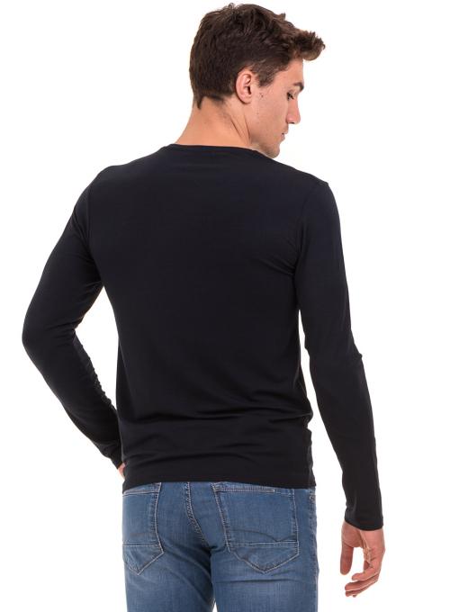 Мъжка спортна блуза MCL 27963 - тъмно синя  B