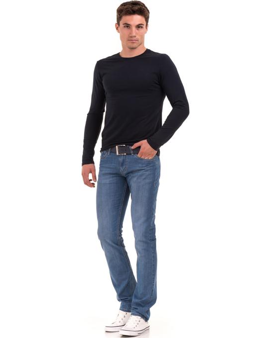 Мъжка спортна блуза MCL 27963 - тъмно синя C