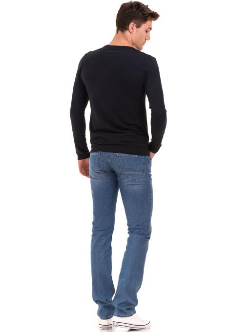 Мъжка спортна блуза MCL 27963 - тъмно синя E