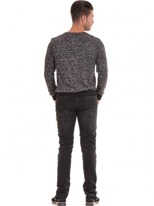 Мъжка блуза с обло деколте  MCL 29124 - черна E
