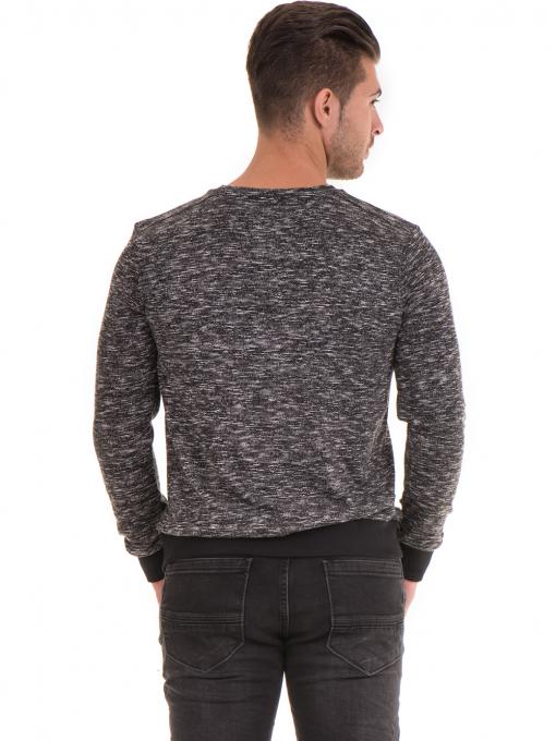 Мъжка блуза с обло деколте  MCL 29124 - черна B
