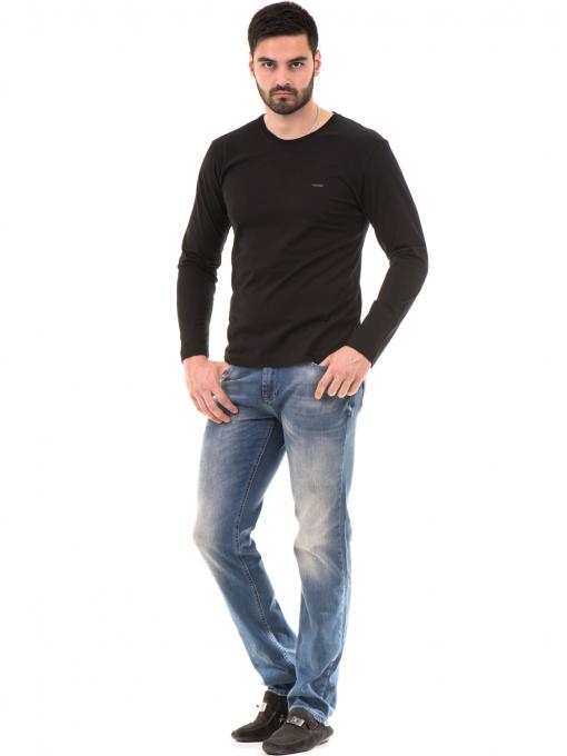 Мъжка спортна блуза VIGOSS B44221 - черна - големи размери C
