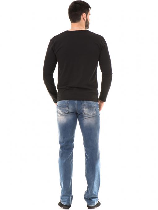 Мъжка спортна блуза VIGOSS B44221 - черна - големи размери E