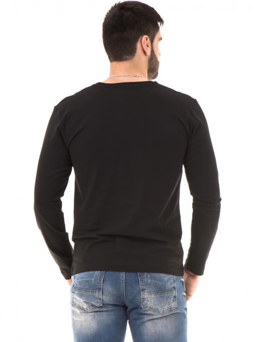 Мъжка спортна блуза VIGOSS 44221 - черна B