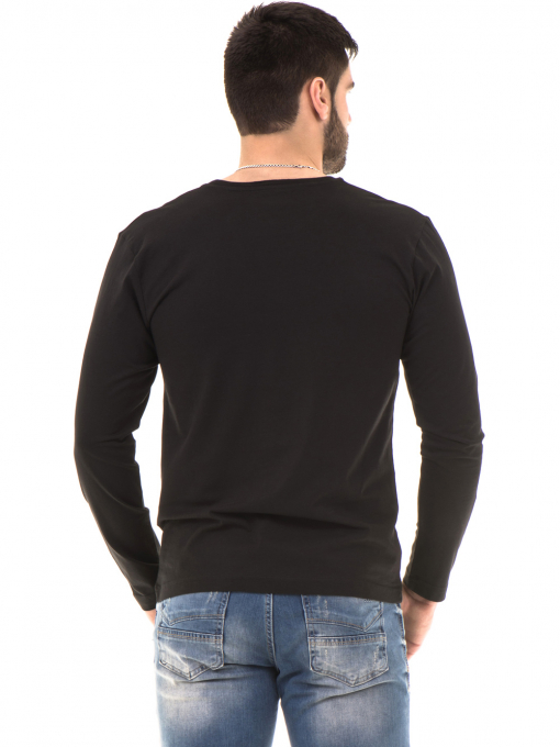 Мъжка спортна блуза VIGOSS B44221 - черна - големи размери B