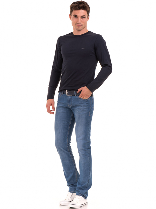Мъжка спортна блуза VIGOSS 44221 - тъмно синя C