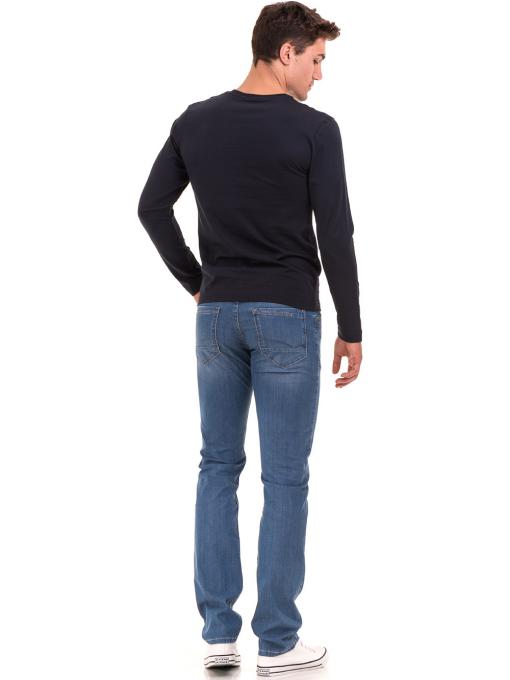 Мъжка спортна блуза VIGOSS B44221 - тъмно синя - големи размери E