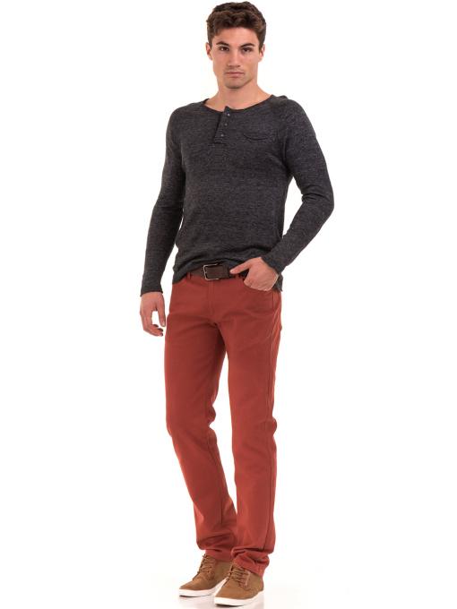 Мъжка блуза фино плетиво XINT 073 - черна C