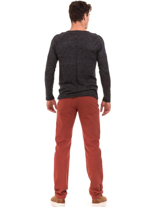 Мъжка блуза фино плетиво XINT 073 - черна E