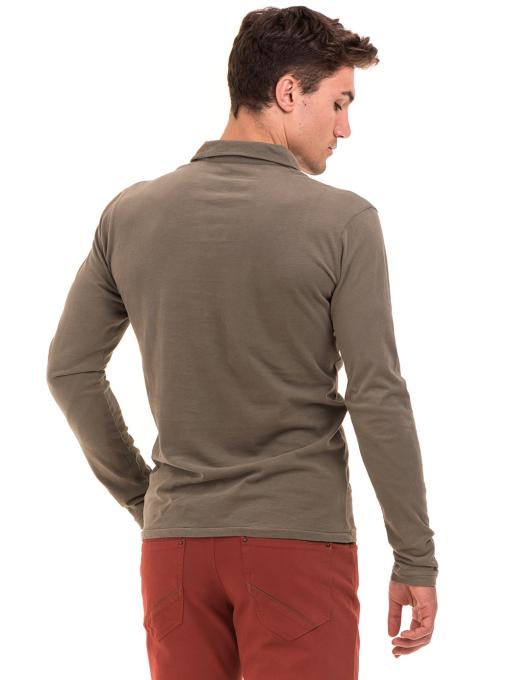 Мъжка спортна блуза XINT 344 - цвят каки B